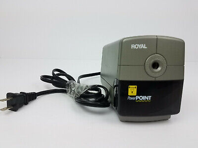 Royal Electric Pencil Sharpener Auto Stop Power Point Greyblack