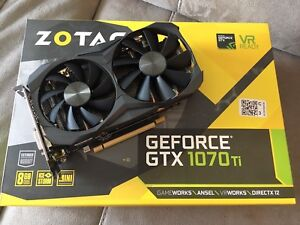 Zotac GTX 1070ti Mini with Box, Receipt, Warranty