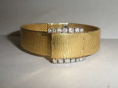 Exquisite Vintage Bucherer lady's 18K diamonds watch LU Chopard 17j 18k band