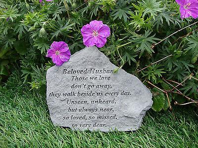 Beloved HUSBAND Memorial Garden Stone Plaque Grave Marker Ornament churchyard