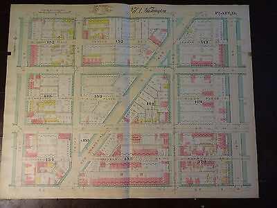 1892 Map of NW DC - N. of Dupont Circle - Rare large property specific detail.