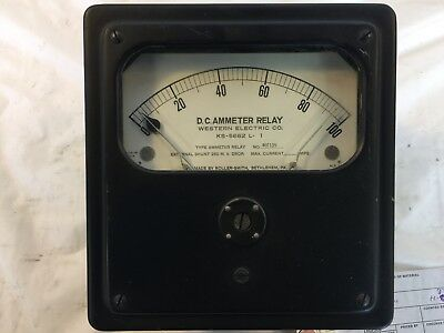 Vintage Western Electric D.c. Ammeter Relay 0-100a