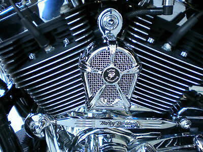 LeNale Engine Cooling Fan - Chrome - 17-19 Touring Harley Davidson - New Design!