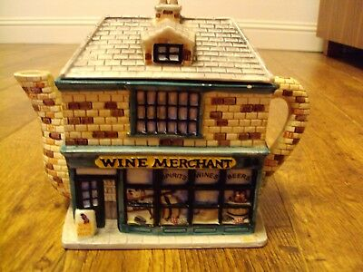 Western House - Annie Rowe - The Village 'Wine Merchant' Collectable Teapot