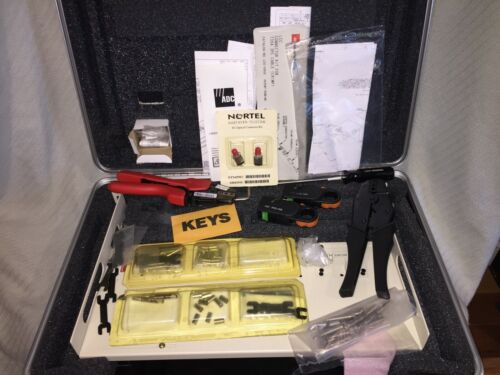 ADC Hard Case Contains WT2 Crimper Coax Stripper Extraction Tool&Tray Kit KIT 2