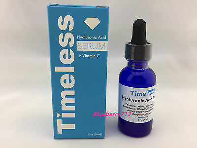 New In Box  Timeless Hyaluronic Acid Serum   Vit C  1  Oz  30Ml