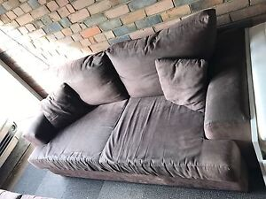 2.5 seater brown suede leather lounge Clovelly Eastern Suburbs Preview