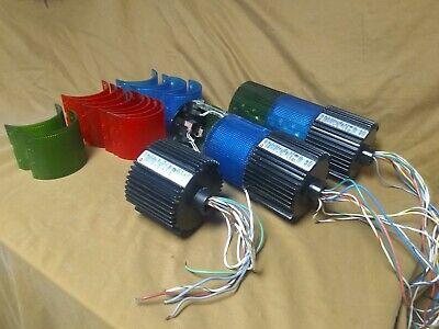 Lot Of 3 Federal Signal Lsb-120 Litestack Bases 4 Lsl-120 Ligths Extra Lens