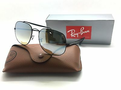 Ray Ban Sunglasses Rb 3561 002/9u 57mm Black/gradient Brown Sil Mirror