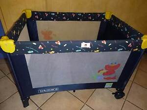 ABC Sesame Street Childcare Travel Cot/ Portacot with carry bag Everton Park Brisbane North West Preview