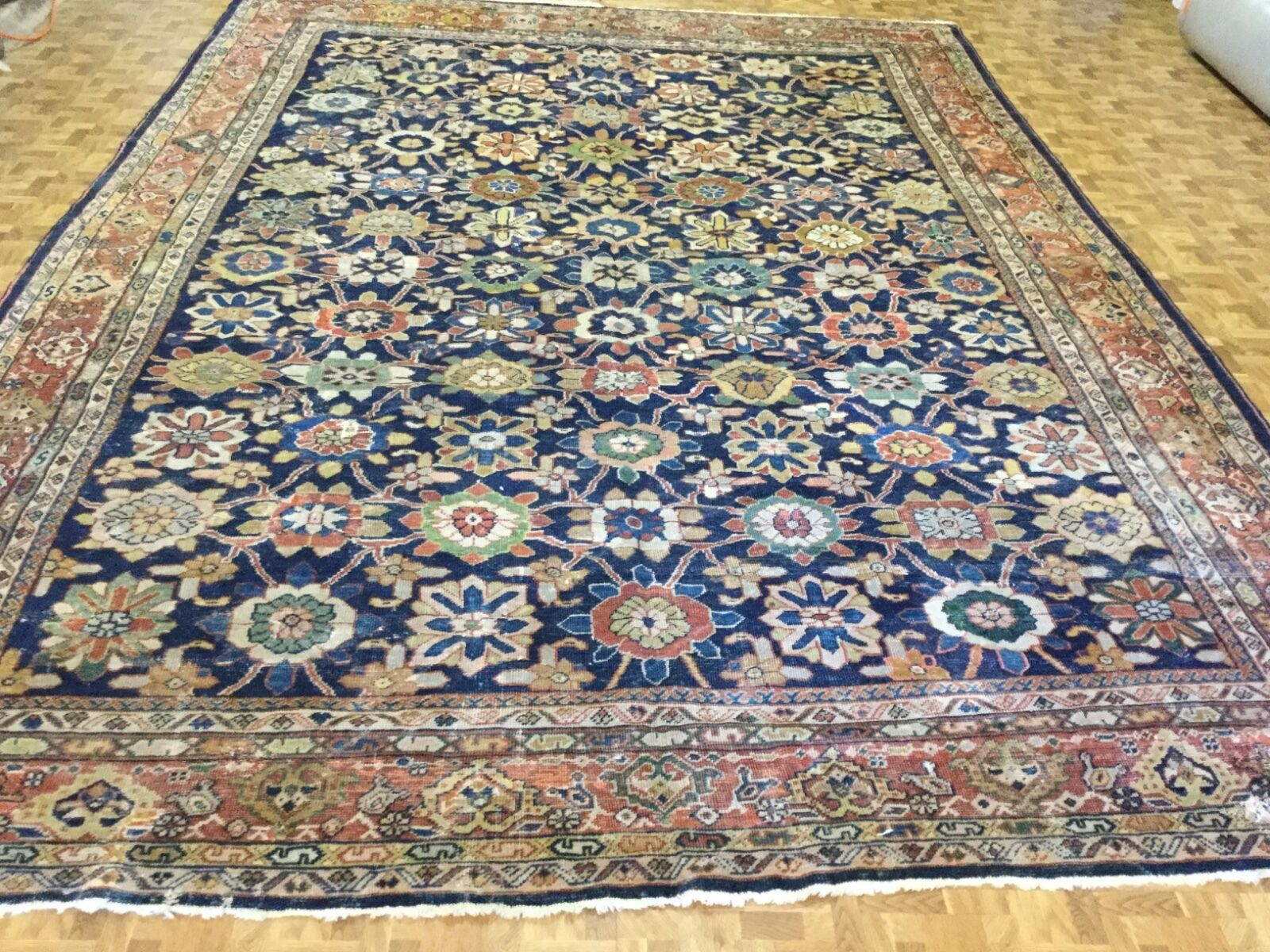 Antique Persian all over Ziegler Mahal Rug
