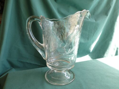 Squirrel Early American Pattern Glass Water Pitcher