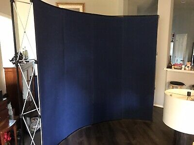 10 Ft Pop Up Trade Show Booth Display Curved With Double Space Case