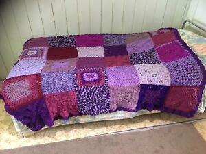Purple Throw Rug 50