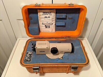 Pentax Asahi Al-6 Optical Automatic Level Surveying Equipment No. 518167 In Case