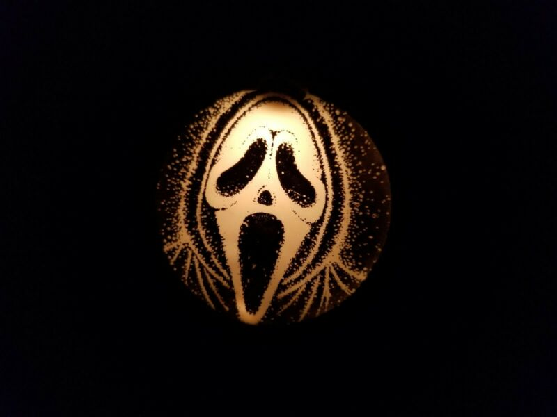 Halloween Scream Ghost Face String of Lights