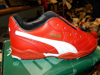 PUMA KING LEATHER BNWL AT £16 SIze6.5UK FLIP TONGUE IN GOLD