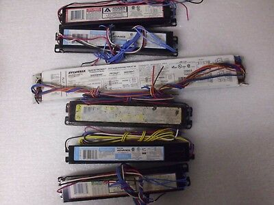 Lot Of 6 Used Lighting Ballasts Philips Sylvania And Advance