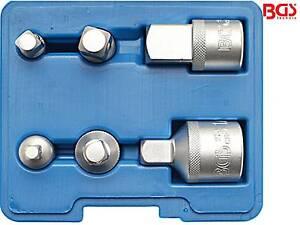 BGS 199 6-tlg Satz Adapter Erweiterung Reduzierung Steckschlüssel Einsatz Nuss