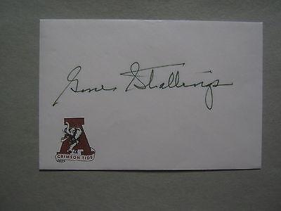 GENE STALLINGS  Signed Crimson Tide 4 1/4 x 6 1/4 Envelope(UNIVERSITY OF ALABAMA