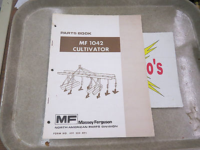 Massey-ferguson Parts Book Mf 1042 Cultivator
