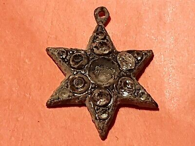 Lovely Victorian pendant damaged in age, condition as photos. L144x