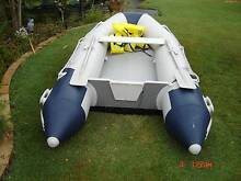 12 ft blue line inflatable boat inc new electric motor Little Mountain Caloundra Area Preview