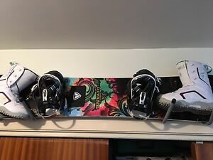 Snowboard boots and bindings-size 8 woman's