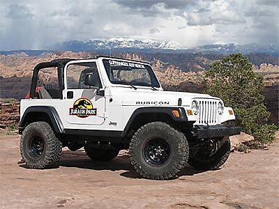 Jurassic Park Ranger HOOD decal to fit on jeep wrangler Set of 5 pieces