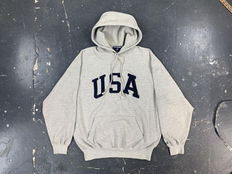 Polo Sport USA Pullover Hoodie Vtg 90s Ralph Lauren XL