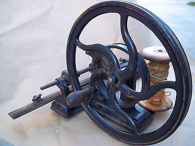 Antique Rare Knitting Machine (Hinkley One Needle, 1866) ..
