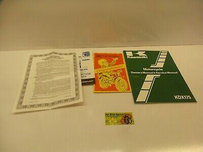 Service Manual-kit (NOS KAWASAKI 1981 KDX175  KDX A3 SERVICE MANUAL KIT OEM 99920-1167-01 OEM )