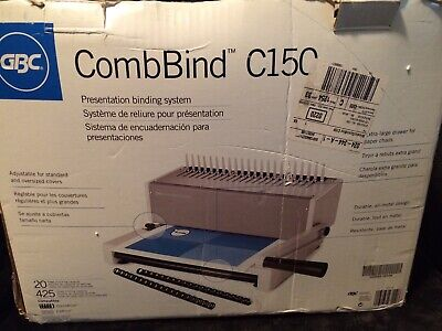 Gbc Combbind C150 Hole Punch And Binder Binding Machine Complete In Box