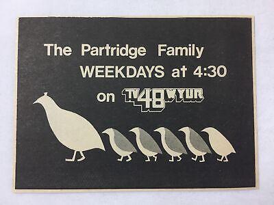 1976 WYUR Tv Ad THE PARTRIDGE FAMILY - $6.99