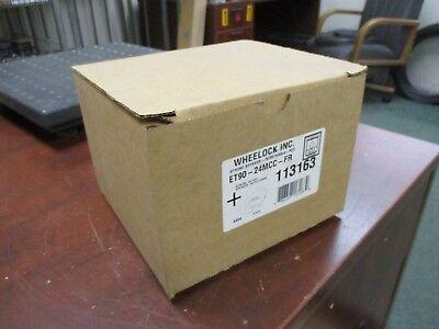 Wheelock Strobe Speaker Et90-24mcc-fr Strobe 24vdc Speaker 2570.7vrms Red