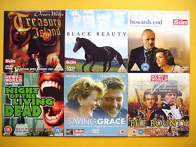ASSORTMENT OF DVD'S  FROM VARIOUS  SUN/NOTW NEWSPAPER PROMOTIONS (6 DVD'S )  001