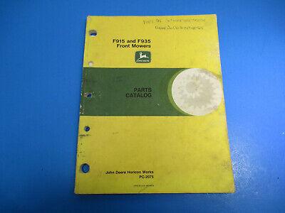 John Deere Parts Catalog F915  F935 Front Mowers Pc-2075 July 1988 M6543