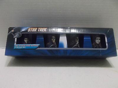 Star Trek Set Of Four 2oz. Shot Glasses #53099 NIB 2012!