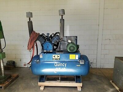 Quincy Qt15 Horizontal Reciprocating Piston Two Stage Air Compressor - Am19817