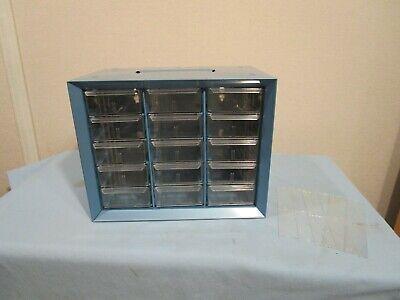 Vintage Akro Mills15 Drawer Metal Storage Cabinet