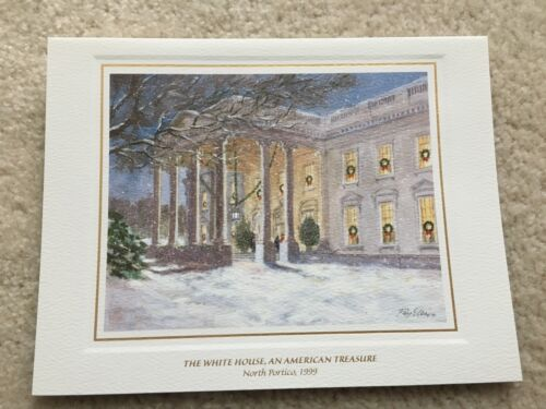 1999 Official White House Christmas Card - President Bill and Hillary Clinton
