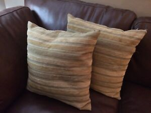 4 chenille accent cushions
