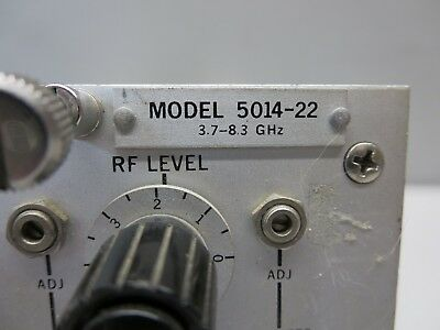Kruse Electronics Model 5014-22 Oscillator 3.7 - 8.3 Ghz Unit Not Tested