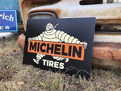 Antique Vintage Old Style Michelin Man Service Station Sign