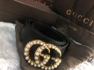 Gucci double G pearl belt.