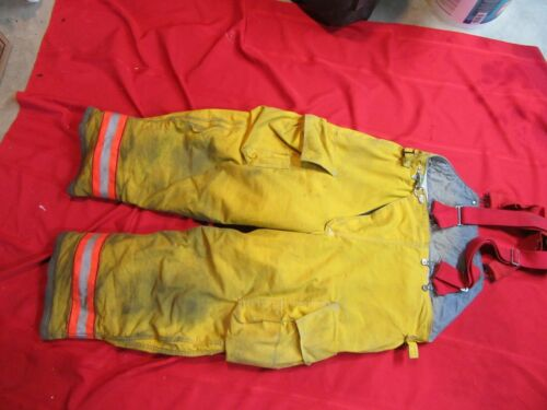Globe 44 x 28 Firefighter Turnout bunker Pants gear halloween costume SUSPENDERS