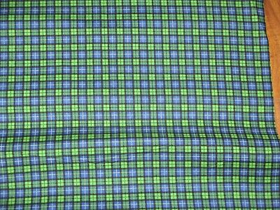 Used, JOHN DEERE TRACTOR fabric JOHN DEERE black watch plaid CP20586 REMNANT NEW for sale  Shipping to India
