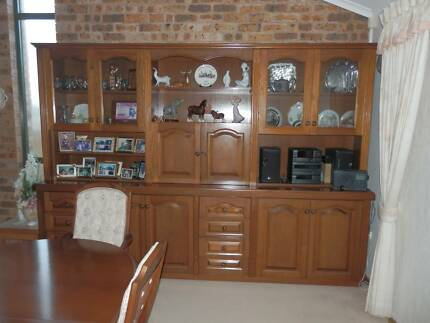 Wall unit/buffet and hutch solid wood Toukley Wyong Area Preview