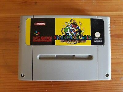 SUPER MARIO WORLD RETURN TO DINOSAUR LAND - Super Nintendo SNES HomeBrew Game