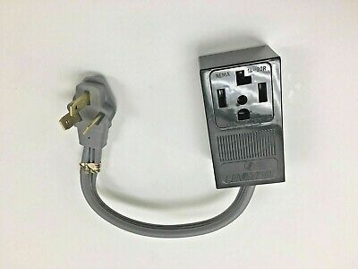 3-PIN 10-50P RANGE STOVE PLUG CORD ADAPTER   to  4-PRONG 14-30R DRYER (3 Prong To 4 Prong Range Adapter)